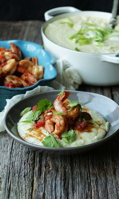 Spicy Sriracha Shrimp and Grits from @ChefBillyParisi