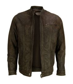 Handmade Men leather jacket men brown by customdesignmaster, $149.99