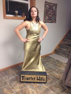 """Trophy Wife"" costume,  unique DIY Halloween costume 2013"