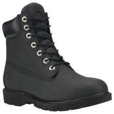 655df43a75c2d Men's Timberland 6-Inch Basic Waterproof Boots (Black Enhanced Leather) Timberland  6 Inch