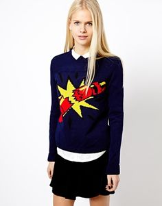 Image 1 of River Island Christmas Cracker Jumper $45