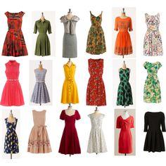 60's inspired dresses