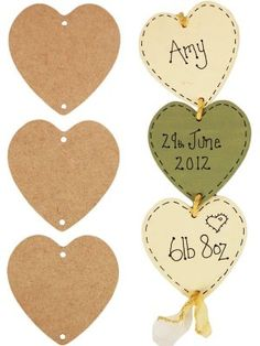 <br>MDF Hanging Hearts<br><br>3 heart shaped MDF plaques with holes for hanging together. Each heart has two holes so one can be hung from the other. <br><br>Craft blank supplied plain ready to paint or decorate with acrylics, inks, poster paints, stamps, polymer clay, foam clay, decoupage (or Decopatch), papers, napkins, glitters, embellishment, beads and much more.<BR><BR>Ideal for a childs bedroom or home decor. Great for mothers day, fathers day, valentines day, weddings, new baby gifts…