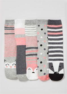 5 Pack Animal Novelty Socks