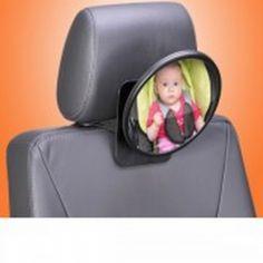 Espejo retrovisor Safetyview. Espejo retrovisor de seguridad para controlar estado y movimientos del bebé con un simple vistazo.Su forma convexa y gran tamaño aporta un campo visual extra grande