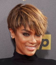 129 Best Tyra Banks Hair Images Short Hairstyles Pixie Hairstyles