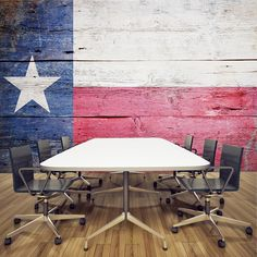 Texas Flag on Wood Wall Mural