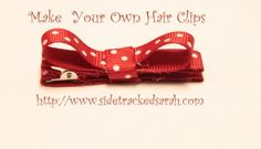 Make Your Own Easy Hair Clips with Ribbon crafts