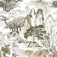 jade temple - ecru fabric