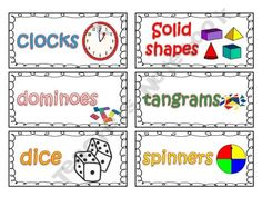 Free Labels for classroom supplies