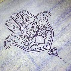 Resultado de imagem para tattoo hamsa colorida