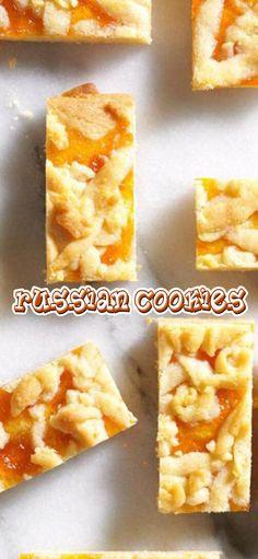 Russian Cookies Russian Cookies, Russian Desserts, Chicken Sliders, 1 Egg, Decorating Tips, New Recipes, Oven, Tasty, Fruit