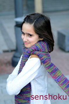 Kit para tejer bufandas con lana Eskimo de Drops