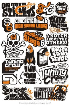 Scooter Attack Logos