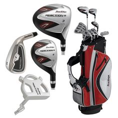 Tour Edge Mens Reaction II Complete Golf Club Sets with Stand Bag