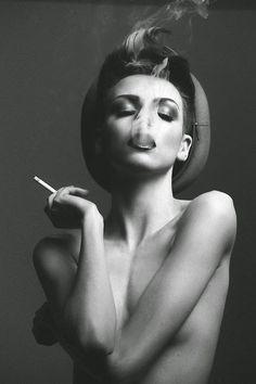 Blowing out the Smoke  Blowing out the Smoke - Black White Photography - #Smoke #inspiration #Lifestyle #Smoking #Femme Fatale #Editorial #photography