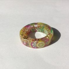 The 'Katy Perry' resin ring by CharlotteBootyDesign on Etsy