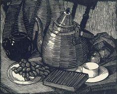 Ethel Spowers linocut