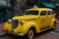 Vintage yellow cab