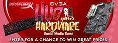 Enter the EVGA & HyperX Hug Your Hardware Social Media Event to win great prizes from @TEAMEVGA & @HyperX! https://wn.nr/QHUj77