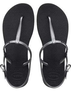 Size 7.5-8.5, $32. The Freedom Sandal features an adjustable metallic slingback strap for a stylish look and secure fit. The injected, molded sole provides added comfort with our signature textured footbed. Thong style with slingback strap Cushioned footbed with textured rice pattern and rubber flip flop sole Made in Brazil