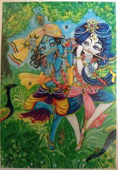 Krishna Balaram — Krishna and Balarama are playing their flutes