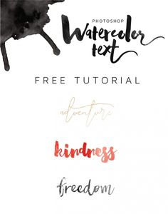 FREE TUTORIAL - How to create a watercolor text effect in photoshop