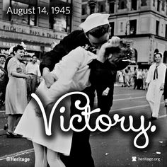 Today is V-J Day -- a day to celebrate and remember!