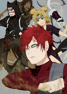 """The Sand Siblings: Gaara, Kankuro and Temari - """"Naruto"""". Gaara's always been my favorite!"""