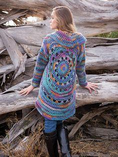 Harbor Lights Circle Jacket Crochet Pattern