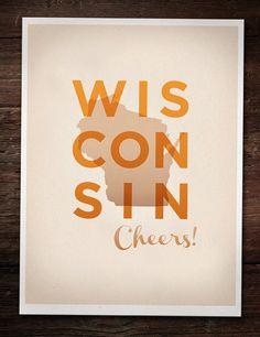 Cheers, Wisconsin poster. 30. 10.5x14.
