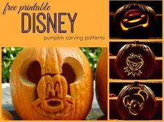 Use these free printable disney pumpkin carving patterns that your kids will love!