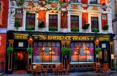 The Sherlock Holmes Pub and Restaurant - bar on the ground floor and a covered roof garden and restaurant on the first floor.