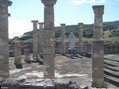 Basílica. Siglo I dc. Estatua colosal de Trajano. Conjunto Arqueológico de Baelo Claudia. Bolonia. Cádi
