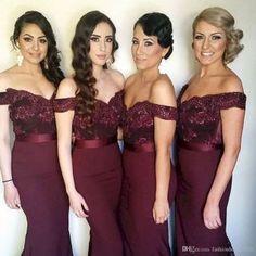Breathtaking burgundy and marsala bridesmaid dresses ideas (20)