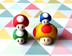 Super facile à reproduire ! Découvrez les champignons de Mario Bros en pâte Fimo.