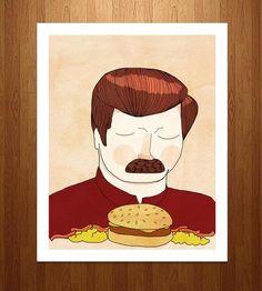 You Had Me At Meat Tornado Ron Swanson Art Print