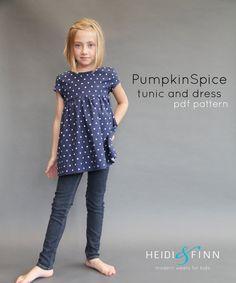 NEW Pumpkin Spice PDF pattern and tutorial 12m-12y by heidiandfinn