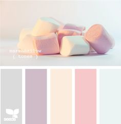 Soft pink color palette _ Love the elegant and romantic colors! Maybe a bluer blue though.