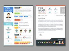 Resume cv template Free Vector