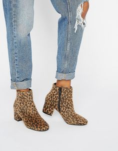 Pimkie+Leopard+Print+Heeled+Ankle+Boot