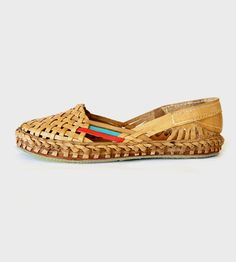 Women's Woven Leather Flats | Some things get better with age and this pair of water buffalo... | Sandals