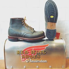 "redwingshoestoreamsterdam:  The Red Wing Shoes 8180 6"" Classic Moc Toe in Kangatan Green is a special pair of boots but this pair is REALLY ..."