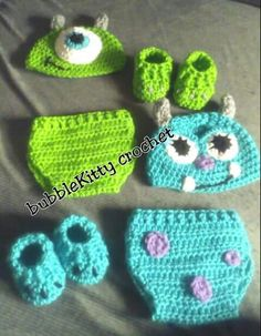 Crochet Monsters Inc. Outfits                              …