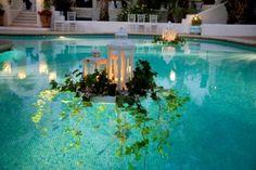 Decoración de piscinas para bodas