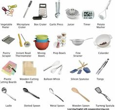 211 Best Kitchen Vocabulary Images In 2019 English Classroom