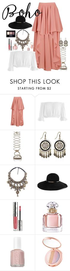 """""""Boho chick"""" by fashion-nova ❤ liked on Polyvore featuring Boohoo, Sans Souci, Miu Miu, WithChic, Eugenia Kim, By Terry, Guerlain, Essie, tarte and NYX"""