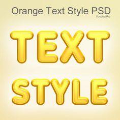 Оранжевый Стиль Текста PSD