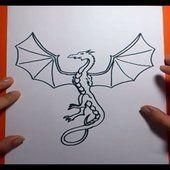 Como dibujar un dragon paso a paso 7 | How to draw one dragon 7                                                                                                                                                                                 Más