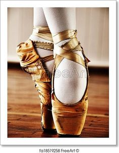 Ballet dancer with old shoes - Artwork  - Art Print from FreeArt.com